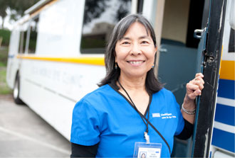 Faye Oelrich, Senior Orthoptist and Program Manager for UCLA Mobile Eye Clinic