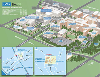 Ronald Reagan UCLA Medical Center vicinity map