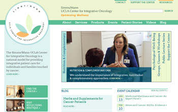Simm/Mann UCLA Center for Integrative Oncology Website