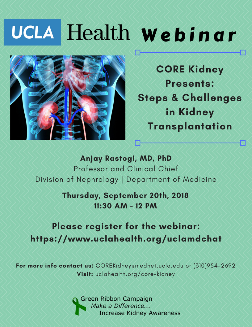 Upcoming Events Core Kidney Los Angeles Ca