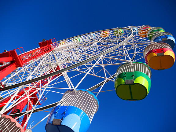e-greeting card - ferris wheel. Send a free e-card/patient greeting card. UCLA Health.
