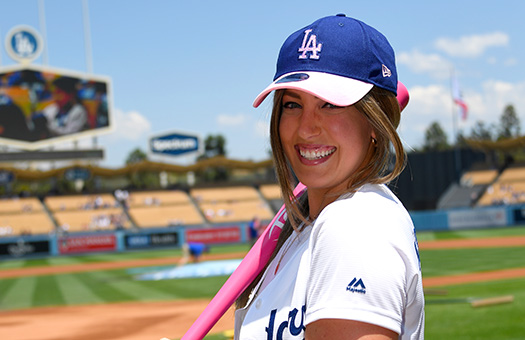 Jessica at Dodger game