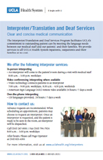 UCLAHS Interpreter Services Brochure (PDF)