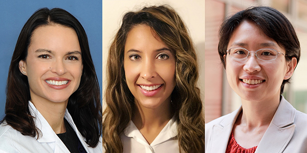 Photo of Sarah Larson, MD, Sanaz Ghafouri, MD, and Yvonne Chen, PhD