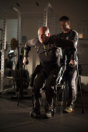 Courtesy of Mark Pollock<br>Mark Pollock and trainer Simon O'Donnell