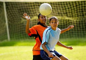 Istockphoto<br>Girls' soccer at the high school level has one of the highest rates of concussion.