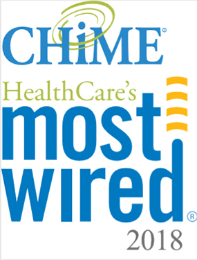 CHiME Healthcare's most wired 2018 logo
