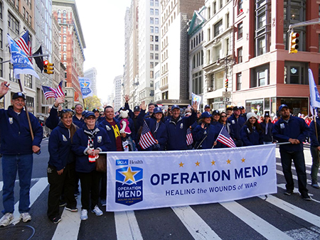 For the sixth consecutive year, representatives of Operation Mend, including 10 veterans, took part in America's Parade, the country's oldest and largest Veterans Day celebration.