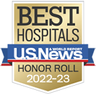 Best Hospitals Honor Roll badge by U.S. News & World Report.  UCLA Health hospitals rank among nation's best in U.S. News survey.