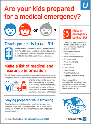 Are Your Kids Prepared For A Medical Emergency