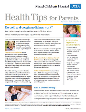 Health Tips for Parents | UCLA Health
