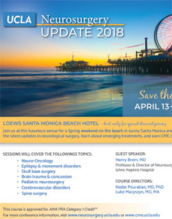 Conferences and Courses - UCLA Neurosurgery, Los Angeles, CA