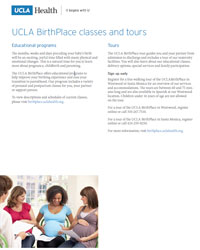 UCLA Birthplace Classes and Tours