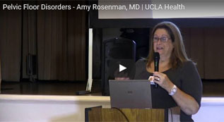 Dr. Amy Rosenman, urogynecologist, discusses prolapse and incontinence