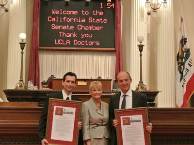 State Senator Runner Honors Dr. Ardehali and Dr. Ross