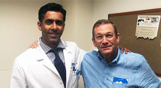 Dr. Chris Saigal with Prostate Cancer Patient
