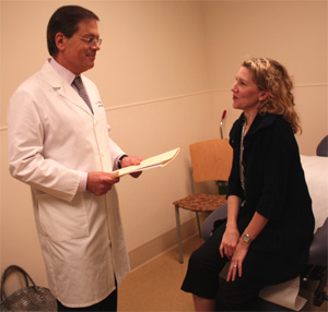 Kidney cancer doctor at UCLA with a patient