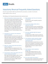 FAQs Vasectomy Reversal
